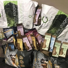 Thank you so much to @fidoandfelixfoods  for your generous donation! We received 9 large bags of dog food along with many other goodies to help fill our Rescue's bellies!  Fido and Felix Foods also has a great selection of quality raw foods AND they del