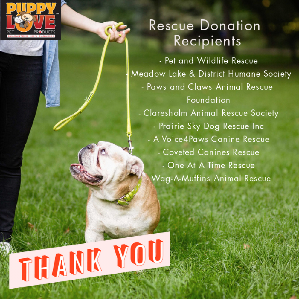 Thank you Puppy Love Pet Products!